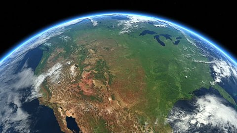 USA from space. Clip contains earth, usa, us, space, map, globe, satellite, planet, United States, North America