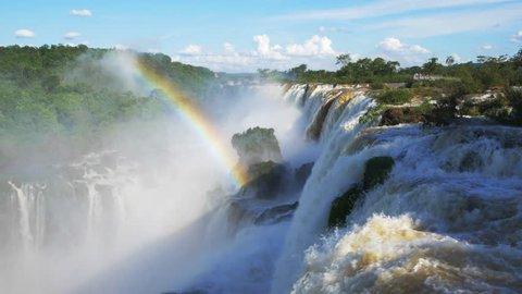 Rainbow at Iguazu Falls, on the border of Argentina and Brazil.