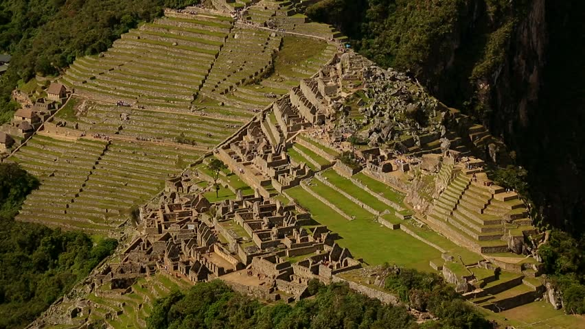 Different perspective of Machu Picchu. Video footage: Inca city Machu Picchu in a different view. Andes of Peru near Cuzco. South America