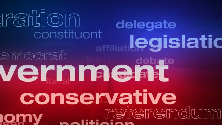 Political And Election Words Loop   Seamless Animation Loop Of Various  Buzzwords Pertaining To Politics And  Best Wishes In Life