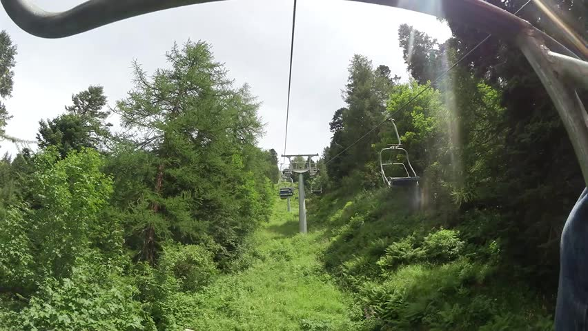 timelapse a chairlift passage. - HD stock video clip & ATLANTA GEORGIA / UNITED STATES - JUNE 6 2016: Cinematic Tracking ...