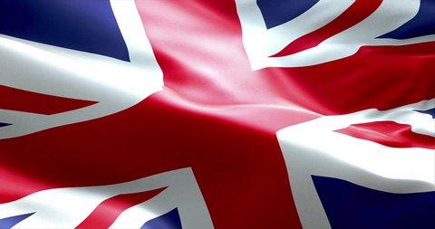 closeup of waving flag of union jack, uk great britain england symbol, named united kingdom flag
