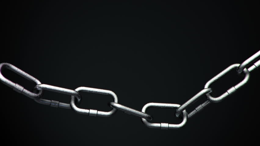 4k Metal Chain links going limp then tightened until the weakest link explodes | Shutterstock HD Video #16896064