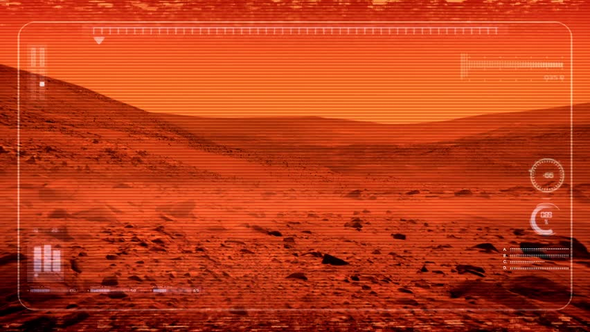 Mars Rover POV On Planet Surface