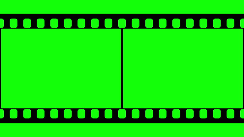 animated film strip overlay (with green screen) 3 stock footage, Powerpoint templates