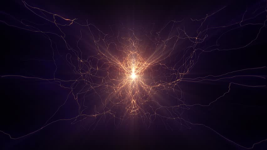 Lightning electrical arcs sci fi power reactor orb future voltage tech glow 4k | Shutterstock HD Video #17025364