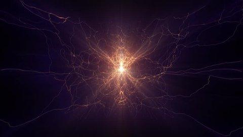 Lightning electrical arcs sci fi power reactor orb future voltage tech glow 4k