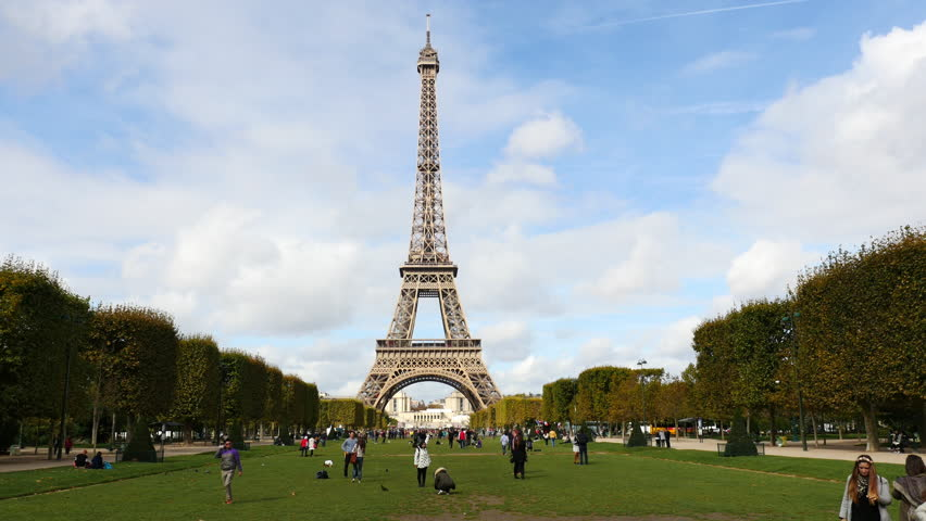 Zoom Out - The Eiffel Tower Daytime-  Paris France - Circa November 2015 | Shutterstock HD Video #17056429