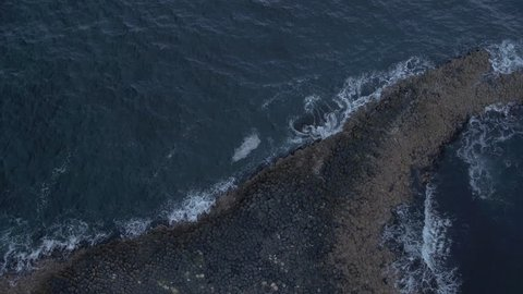 AERIAL: Giants Causeway, Northern Ireland