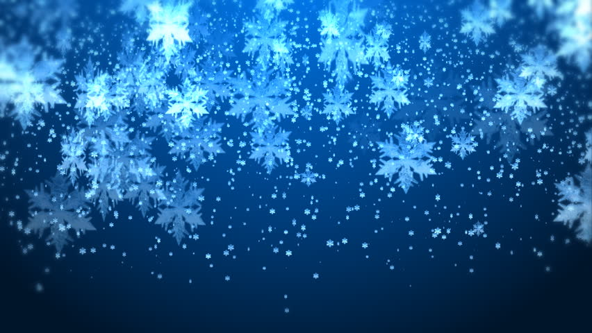 hd snowflakes particles background animation  stock