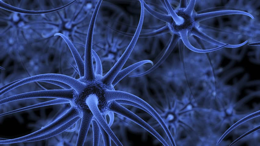 Neuron cells firing off impulses in the brain