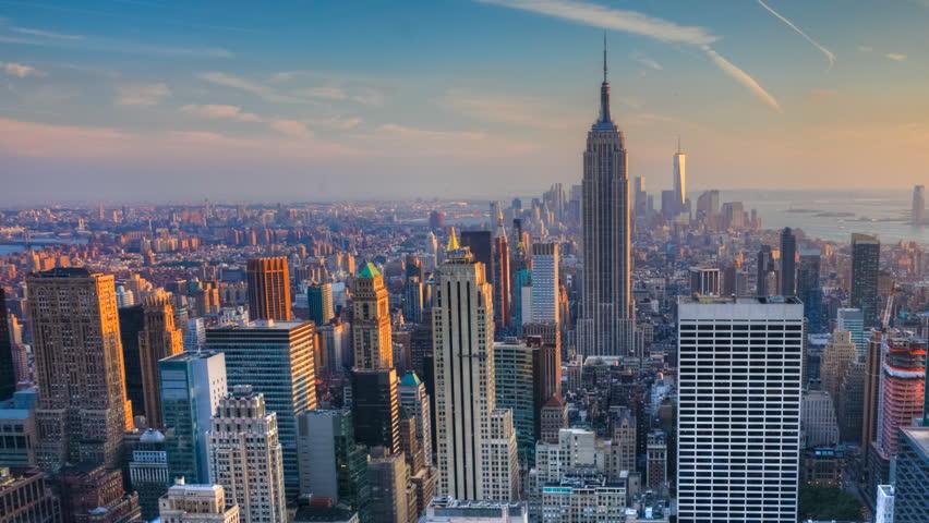 Gorgeous timelapse of nightfall in the heart of Manhattan | Shutterstock HD Video #17203534