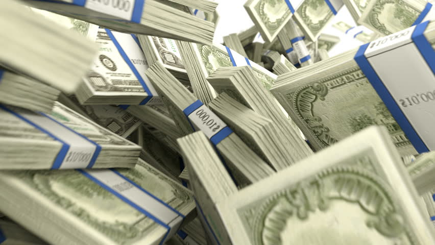 Y-shaped US dollar bundles flow with slow motion 4k. Wealth and money | Shutterstock HD Video #17244424