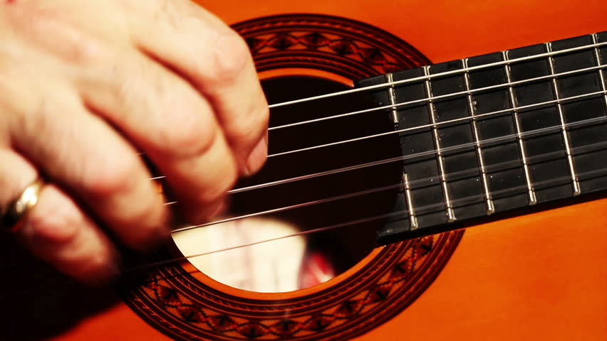 Musician and Acoustic Guitar playing   Shutterstock HD Video #1729294