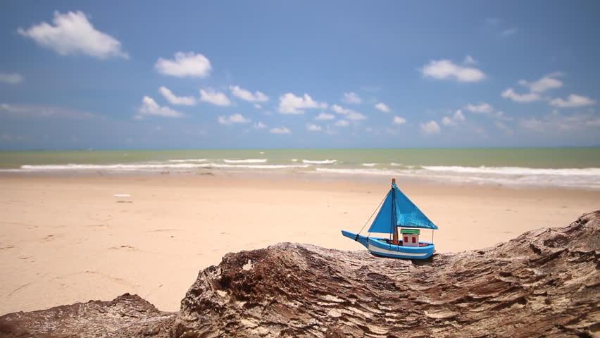 Summer season on the beach with blue sky  | Shutterstock HD Video #17302642
