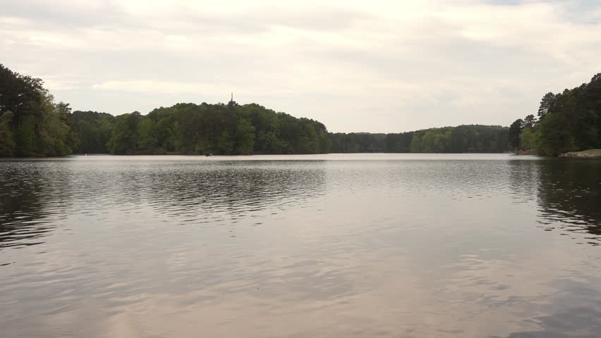 Lake In Stone Mountain National Stock Footage Video 100 Royalty