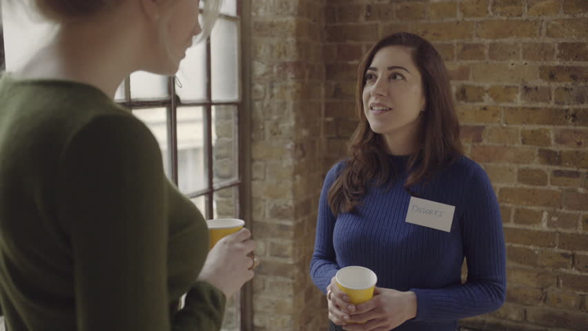 Two Adult Women Talking At Networking Event