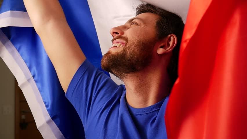 French Fan Celebrating in Slow Motion | Shutterstock HD Video #17356993
