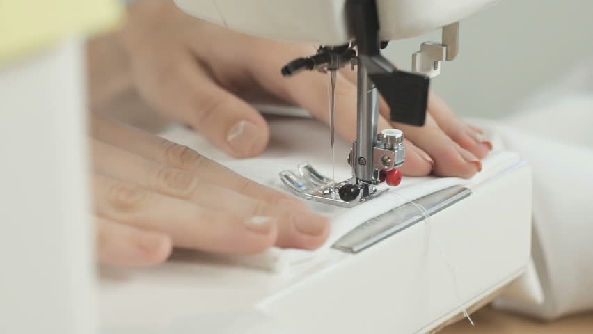 The Work Of The Sewing Stock Footage Video 40% Royaltyfree Beauteous Hands Free Sewing Machine