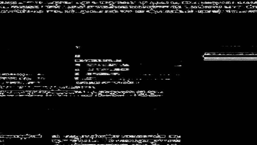 White Noise On Black Glitch Video Damage Background #17399959