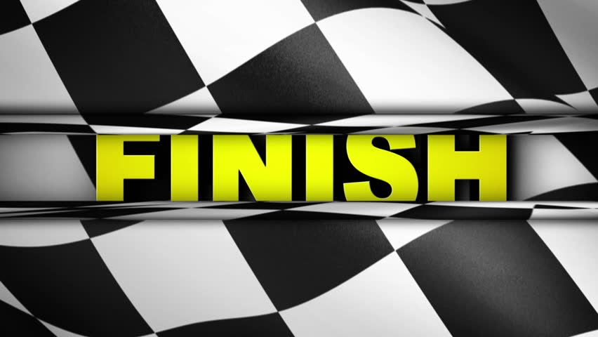 Checker Wall FINISH Text