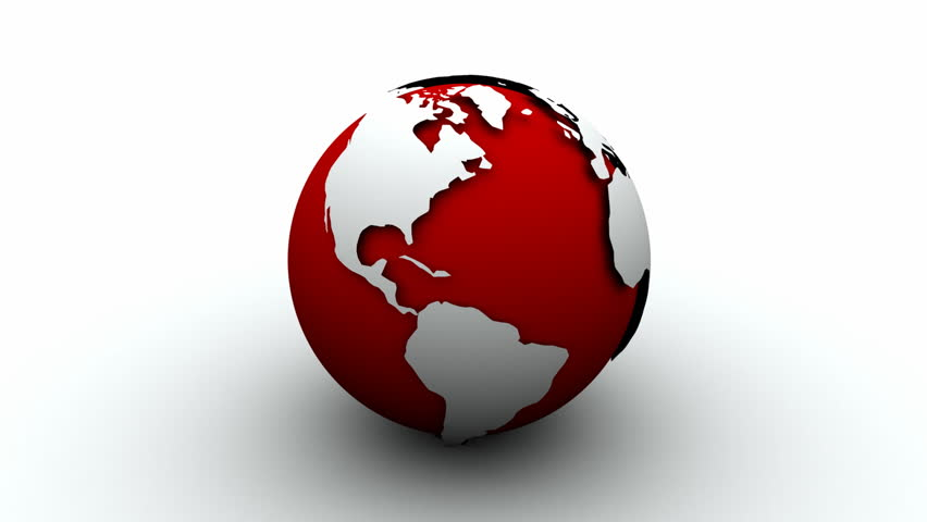 World map red pins loop with alpha hd stock footage video 1490353 white and red earth globe 3d hd stock footage clip gumiabroncs Choice Image