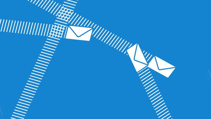 Email Envelopes Flying Around