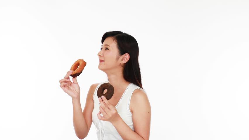 Woman eating sweets | Shutterstock HD Video #17482024