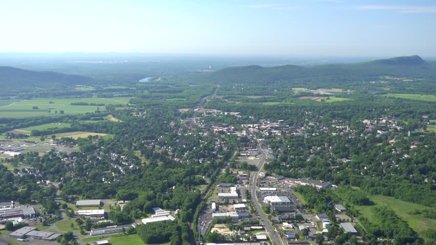 Northampton, MA aerial south view,  is the county seat of Hampshire County, Massachusetts, United States.
