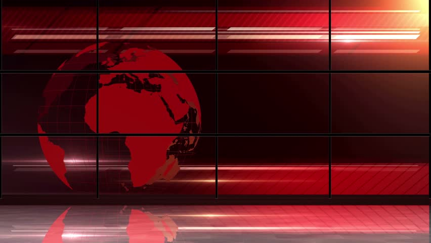 Stock Video Clip Of News Tv Studio Set Virtual Green