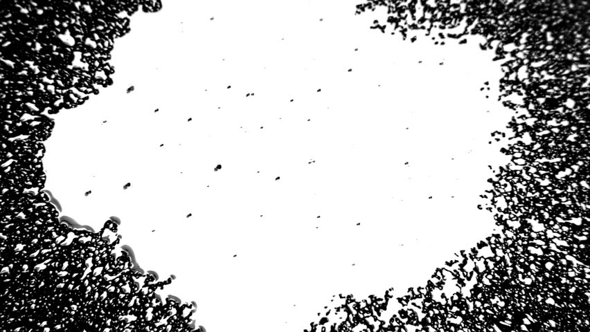 Ink Drop Splatter White on Black