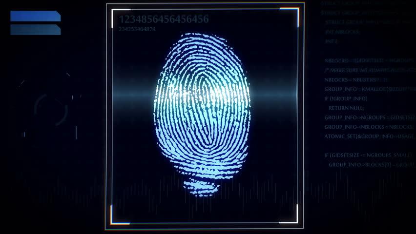 3D rendering of Fingerprint scanner, identification system. | Shutterstock HD Video #17563264