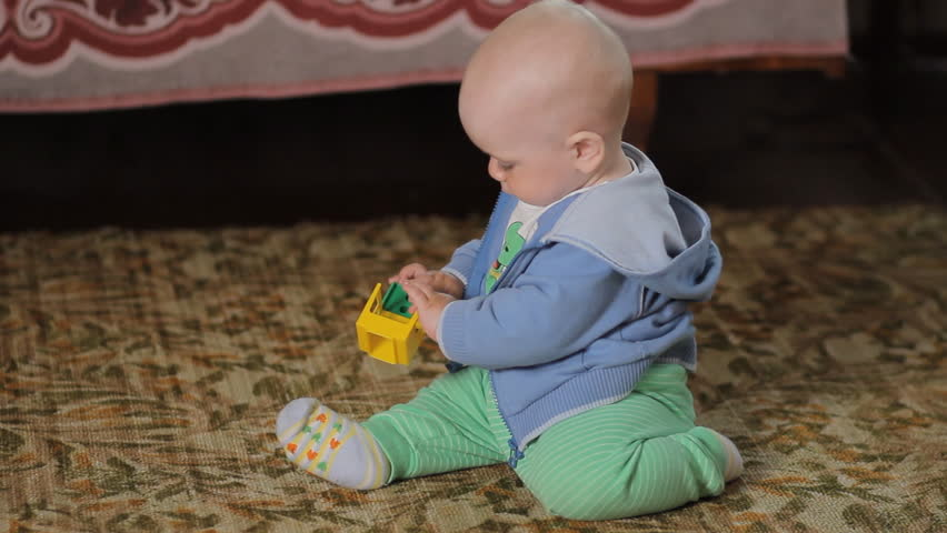 Baby Playing At Home On Stock Footage Video 100 Royalty Free