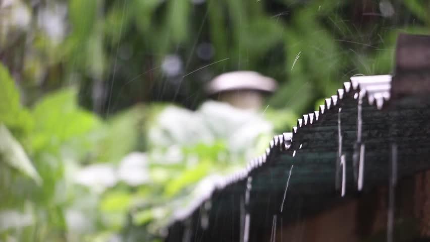 Rain storm on an awning | Shutterstock HD Video #17589994