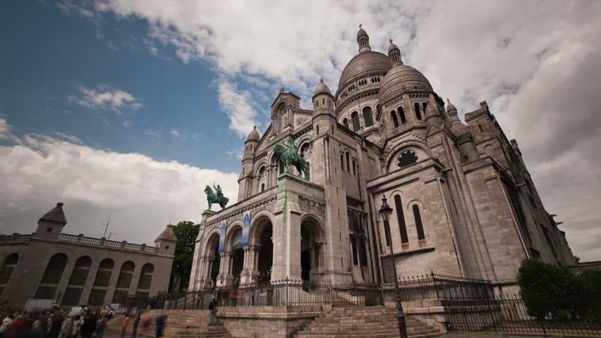 Sacre Coeur church in montmarte Paris timelapse   Shutterstock HD Video #1759268