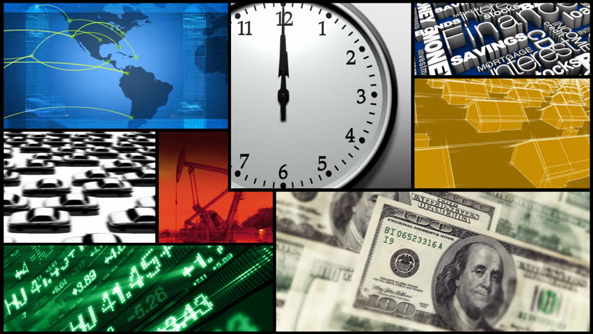 Montage - Time, Finance, Money, Business