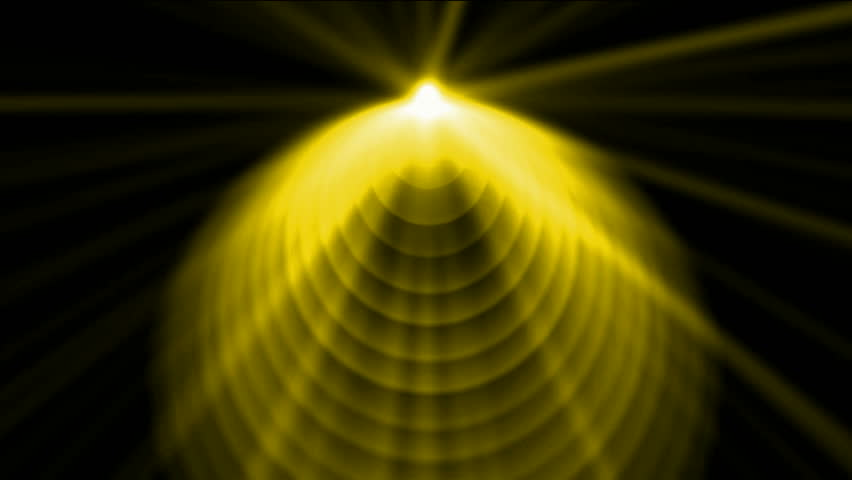 Golen cone top launch dazzling rays light,pyramid and god laser,UFO,tech energy transmit signal. | Shutterstock HD Video #1765484