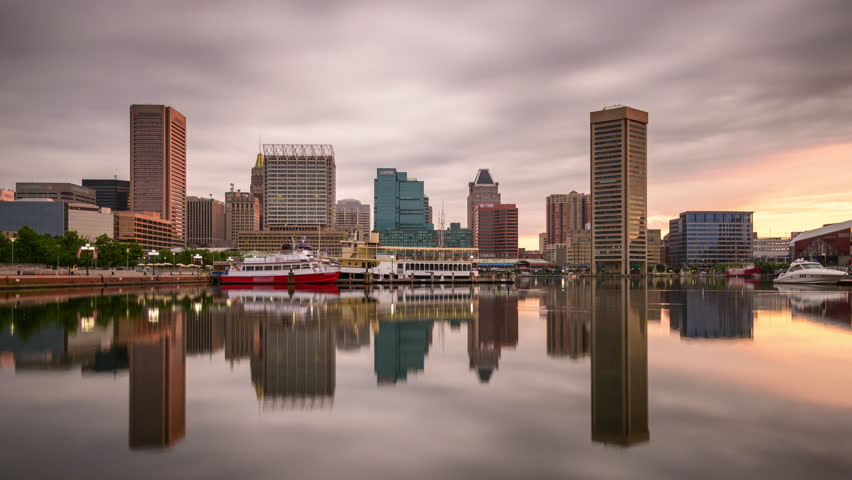 Baltimore Maryland Usa Skyline At The Inner Harbor Stock Footage Video 17688514 Shutterstock