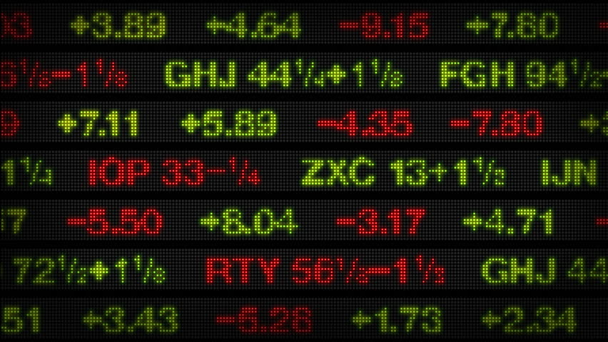 Stock Market Data Tickers Board