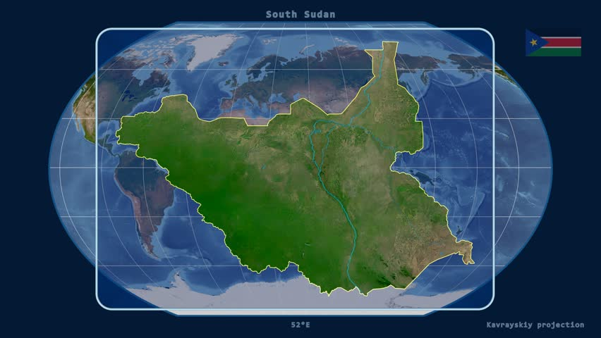 South Sudan Map Stock Footage Video Shutterstock