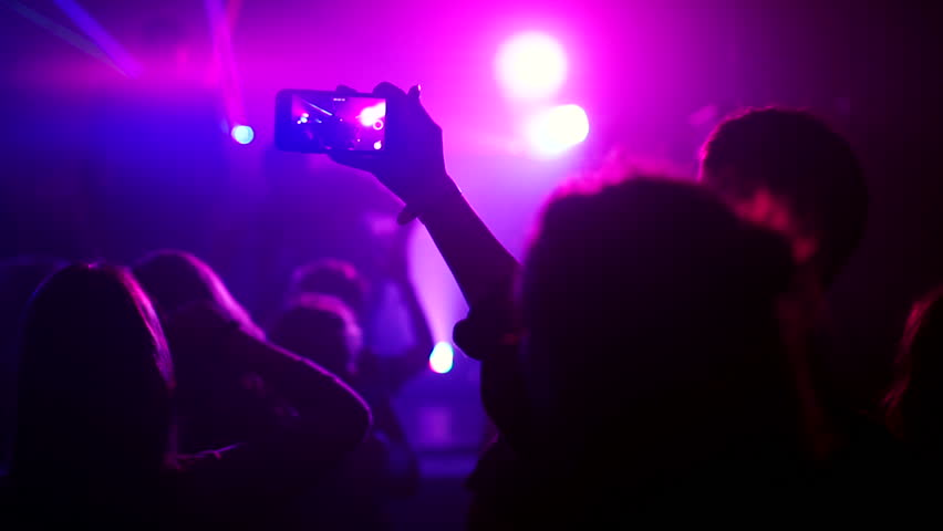 Show With Crazy Lights. Crowd Making Party At A Rock Concert. Hands Hold Phone Among People At Rock Concert Stock Footage Video 17707324 | Shutterstock & A Person Recording Video With His Phone In Club. Show With Crazy ... azcodes.com