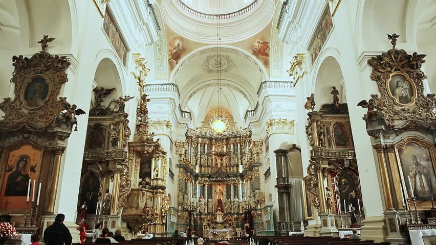 MARCH 2008: An Interior Shot Of A Church