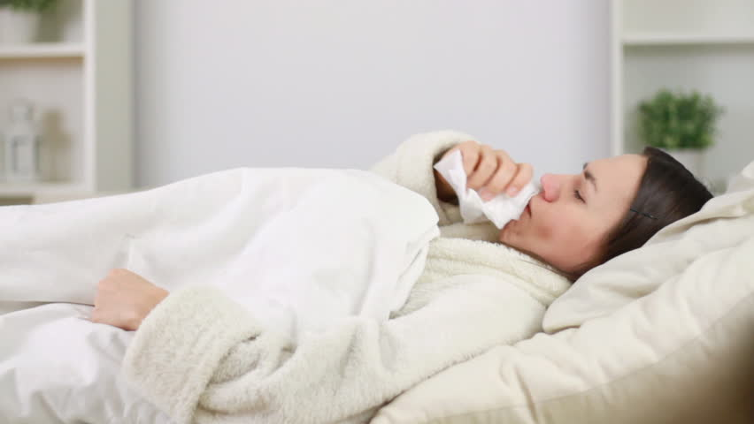 Image result for woman sick in bed