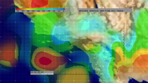California Weather Map Satellite.Weather Radar Digital Satellite Map Stock Footage Video 100