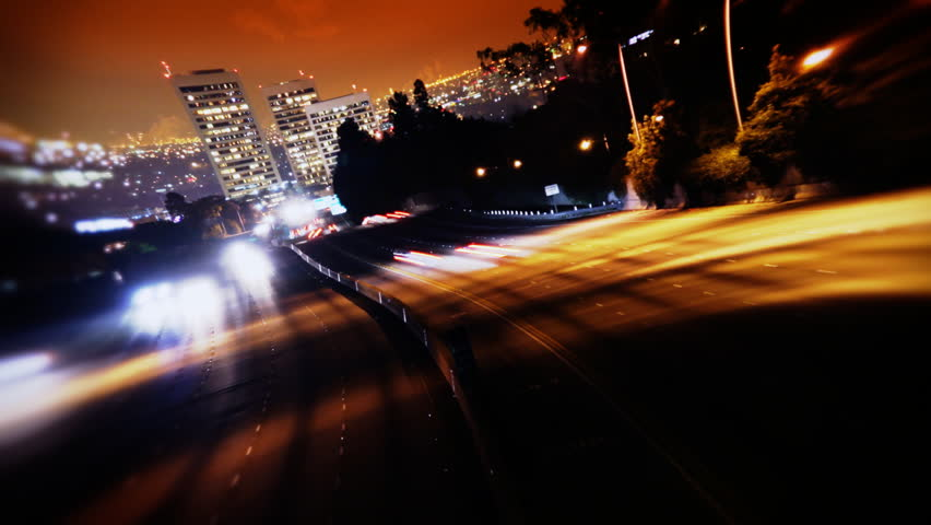 Los Angeles Freeway Traffic at Night | Shutterstock HD Video #1776758