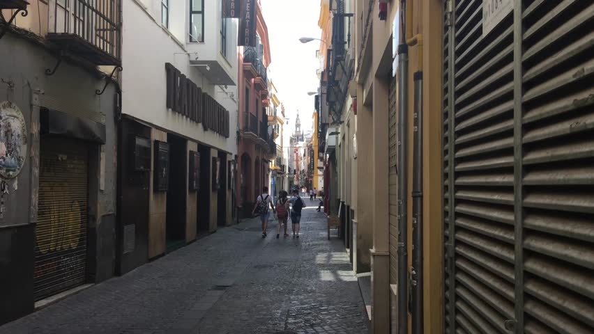 People walking in the old town of Seville Spain | Shutterstock HD Video #17837011