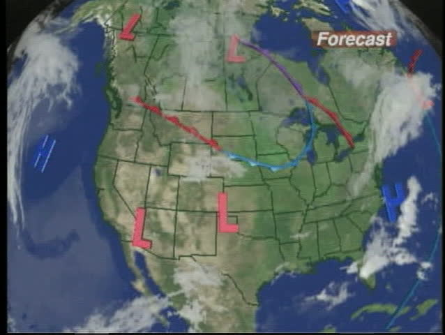 TV News Weather Map