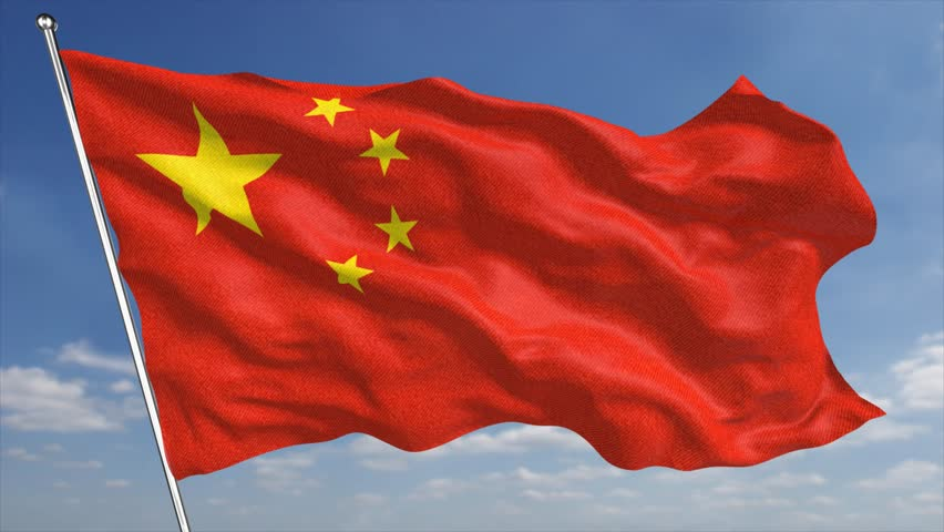 The K China Flag Animated Background Features A High Quality - China flag