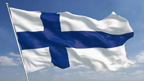 The 4K finland Flag animated background features a high quality finland flag with glossy fabric and cotton texture blowing in the wind. This animation loops, so extending it duration is simple.