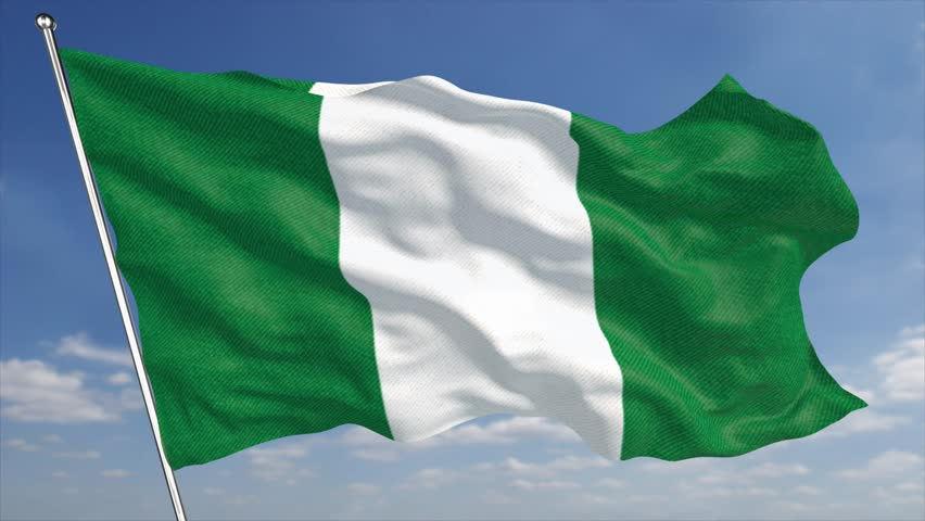 the 4k nigeria flag animated background features a high quality